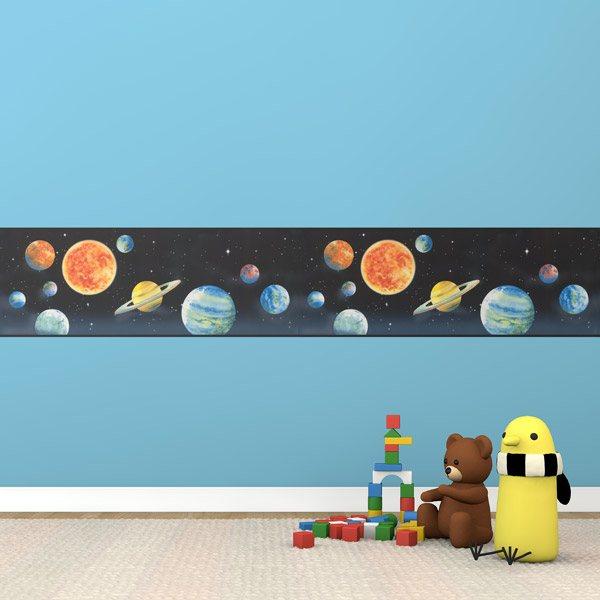 Frise murale espace - Frise murale enfant ...