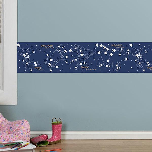 Stickers muraux: Frise adhesive Constellations