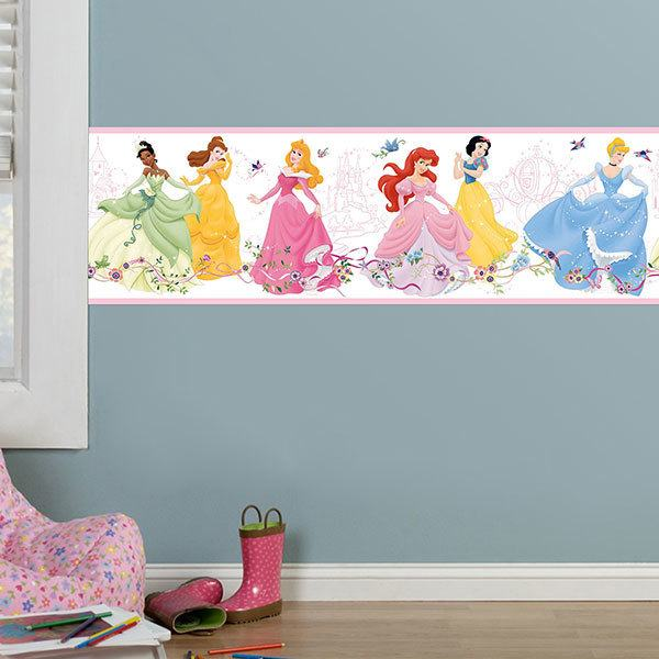 Stickers pour enfants: Frise murale Disney princesses 2