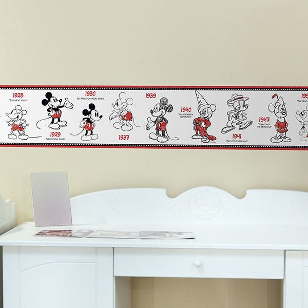 Stickers pour enfants: Frise murale Mickey Mouse