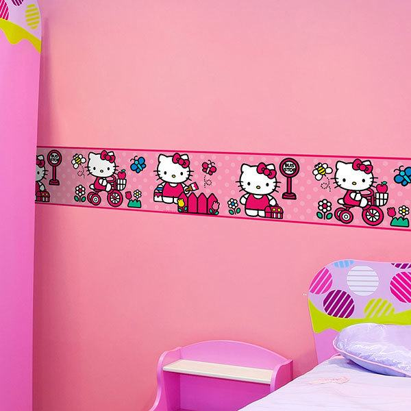 Stickers pour enfants: Frise murale Hello Kitty