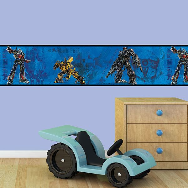 Stickers pour enfants: Frise murale Transformers