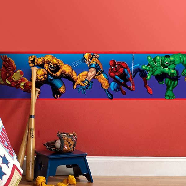 Sticker Frise Murale Marvel Heroes Webstickersmurauxcom