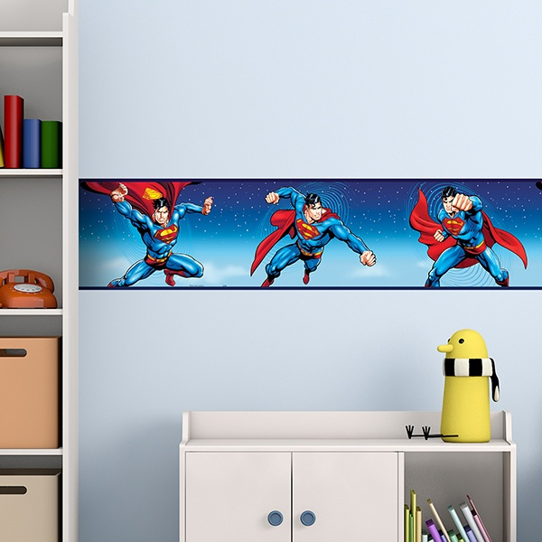 Stickers pour enfants: Frise Murale SuperMan