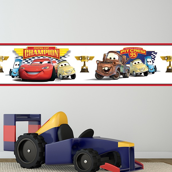 Stickers pour enfants: Frise Murale Cars - Piston Cup