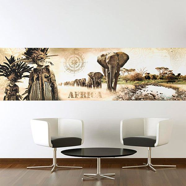 Stickers muraux: Collage de paysages africains