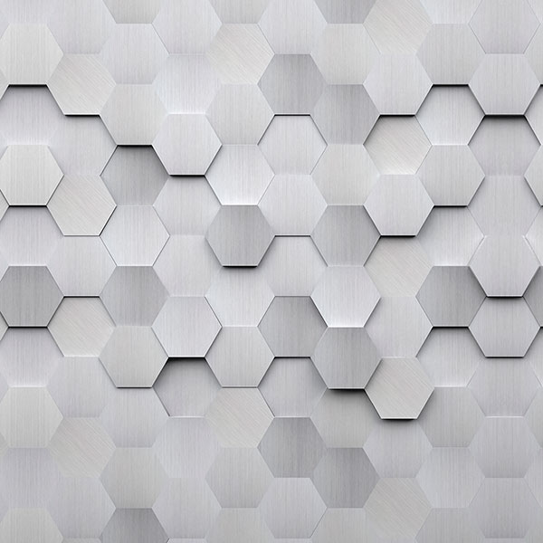 Stickers muraux: Hexagones gris