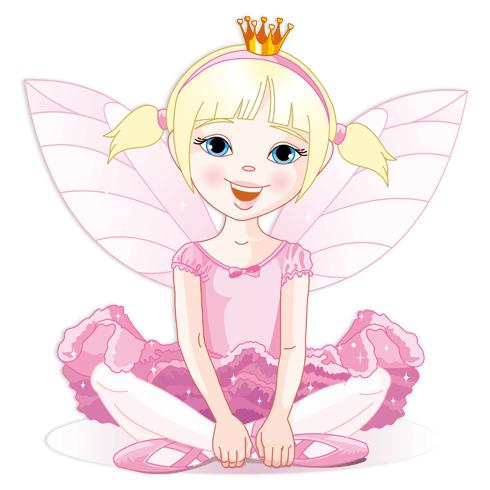 Stickers pour enfants: Petite Fée Rose