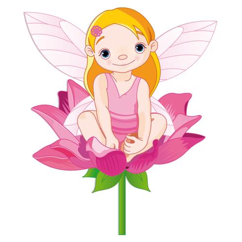 Stickers pour enfants: Petite Fée sur une fleur