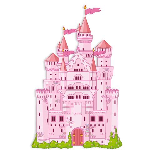 Stickers pour enfants: Le grand château rose