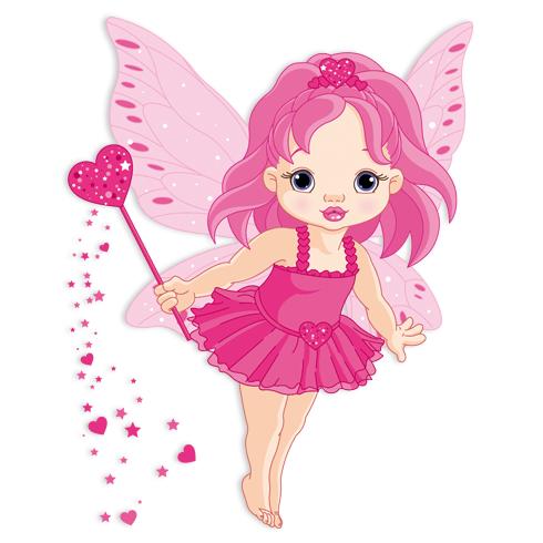 Stickers pour enfants: Petite fée papillon