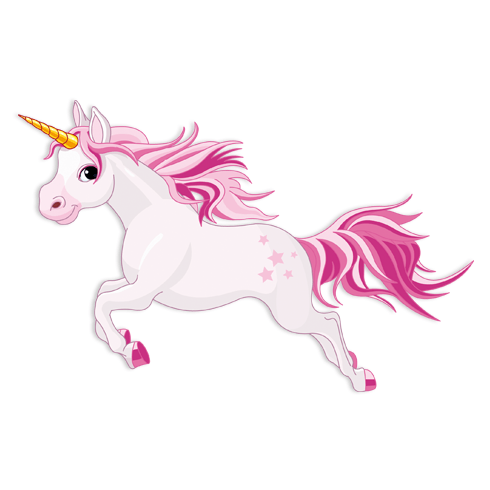 Stickers pour enfants: Cheval Unicorn Rose 2 0