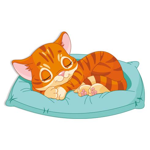 Stickers pour enfants: Le sommeil de chaton