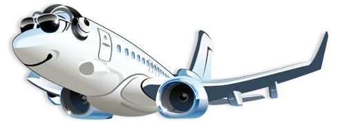 Stickers pour enfants: Avion commercial 2