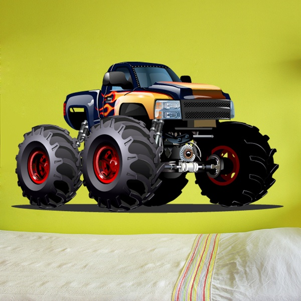 Stickers pour enfants: Monster Truck 14