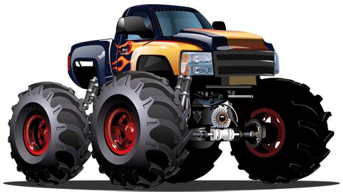 Stickers pour enfants: Monster Truck 14 0