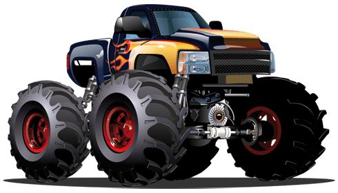 Stickers pour enfants: Monster Truck 14