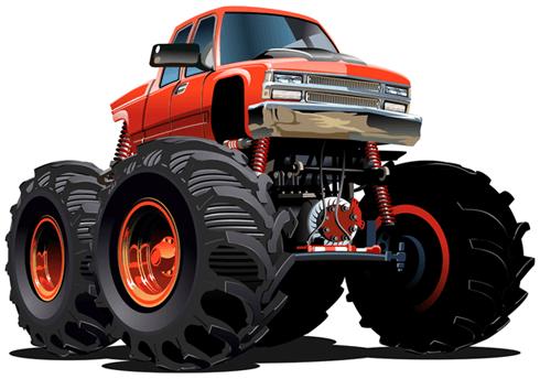 Stickers pour enfants: Monster Truck 15