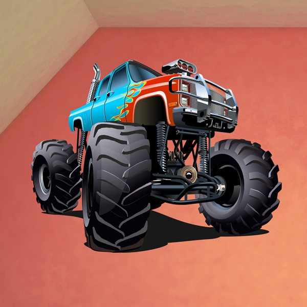 Stickers pour enfants: Monster Truck 18