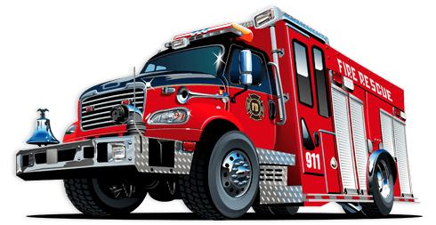 Stickers pour enfants: Camion de pompiers 5