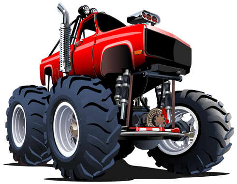 Stickers pour enfants: Monster Truck 19 0