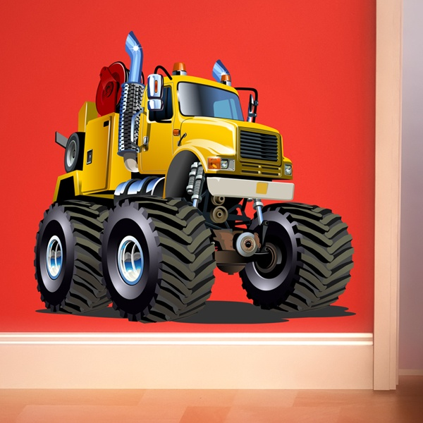 Stickers pour enfants: Camion grue Monster Truck