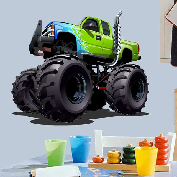Stickers pour enfants: Monster Truck 21