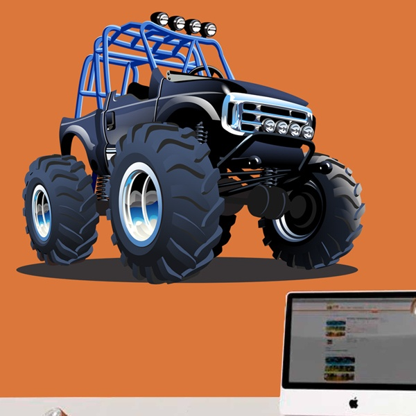 Stickers pour enfants: Monster Truck Safari