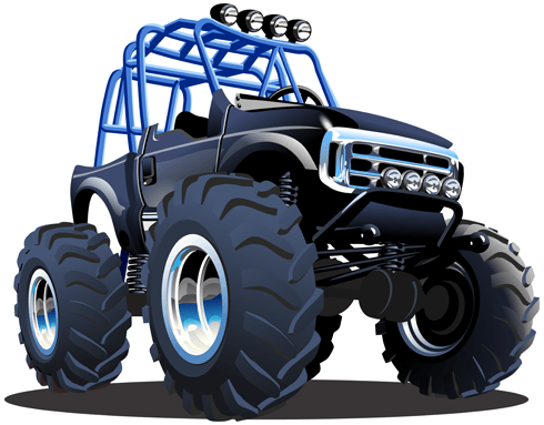 Stickers pour enfants: Monster Truck 23