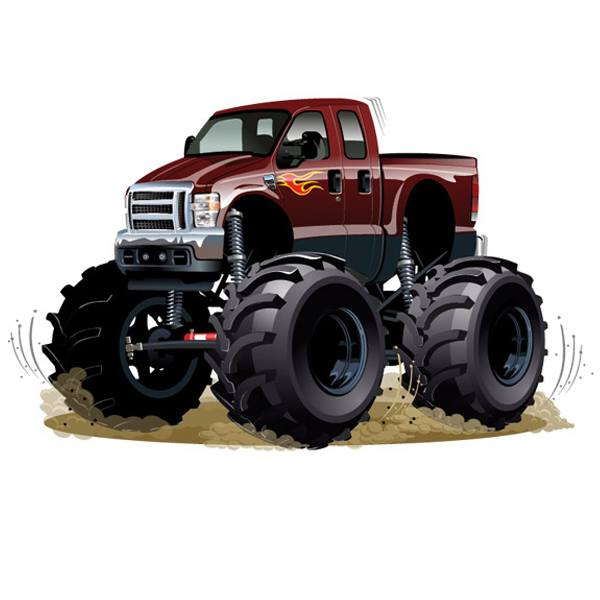 Stickers pour enfants: Monster Truck
