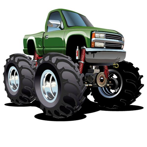 Stickers pour enfants: Monster Truck 2