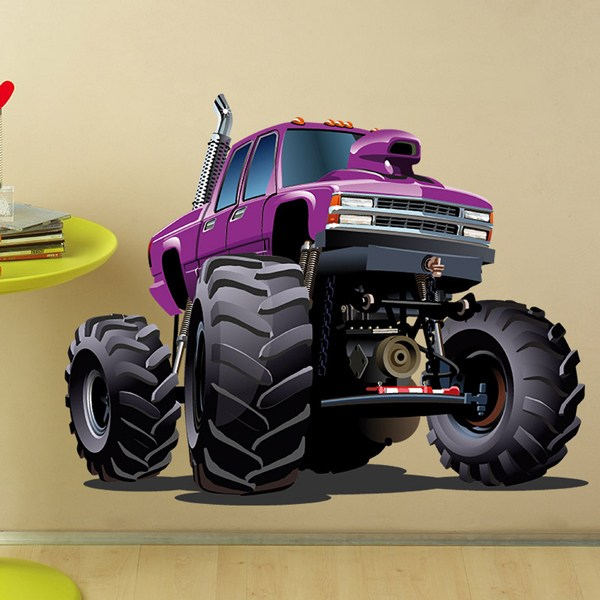 Stickers pour enfants: Monster Truck Violet