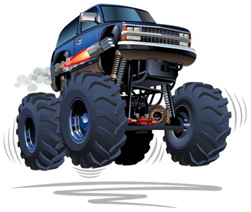 Stickers pour enfants: Monster Truck 4