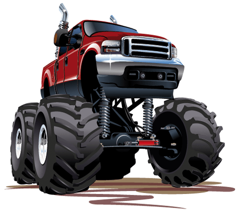 Stickers pour enfants: Monster Truck 5