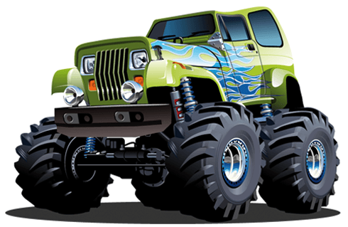 Stickers pour enfants: Monster Truck 6
