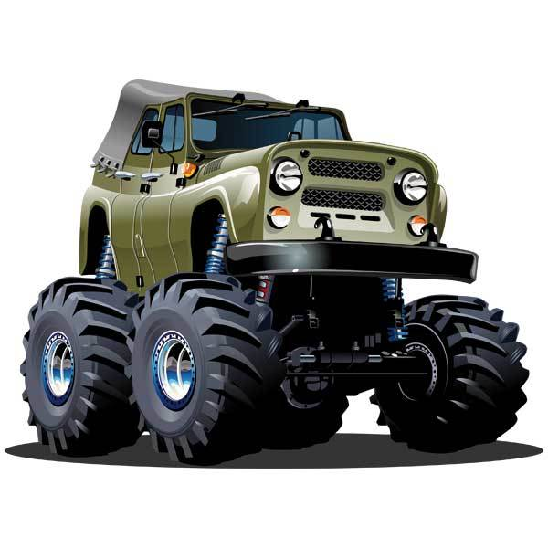 Stickers pour enfants: Monster Truck Jeep