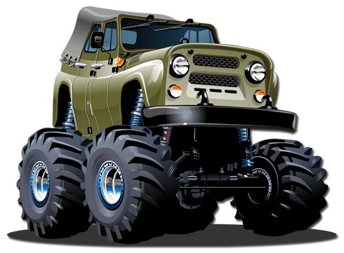 Stickers pour enfants: Monster Truck 10