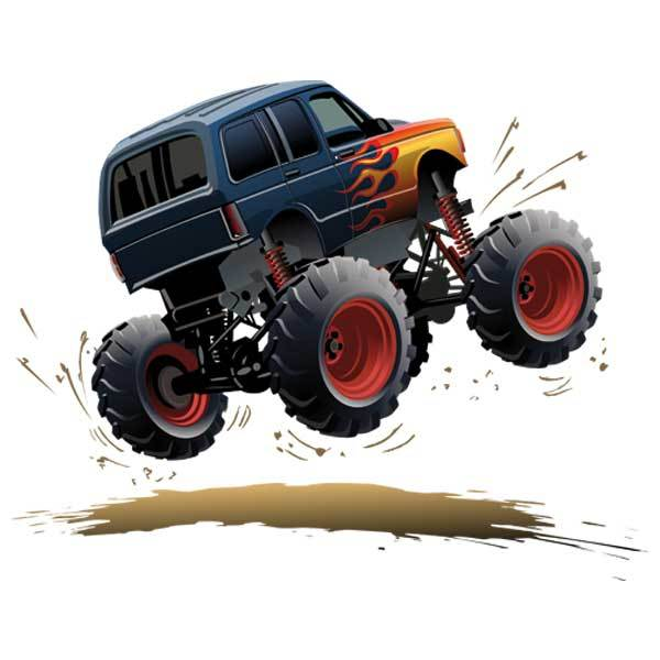Stickers pour enfants: Monster Truck 11