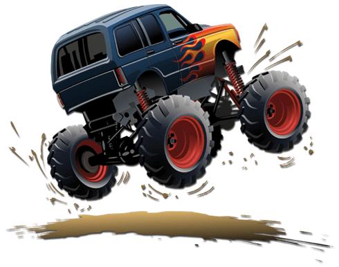 Stickers pour enfants: Monster Truck 11
