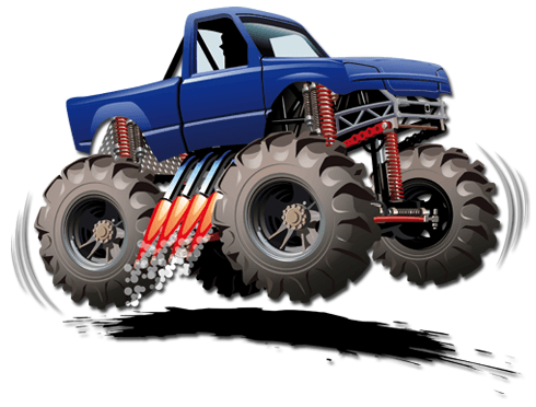 Stickers pour enfants: Monster Truck sautant