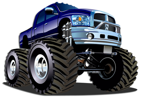 Stickers pour enfants: Monster Truck 13 0