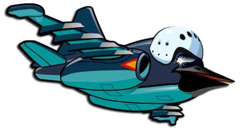 Stickers pour enfants: Avion oiseau tête