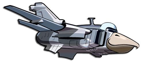 Stickers pour enfants: Avion oiseau tête 2