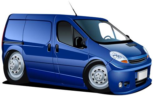 Stickers pour enfants: Camionnette bleu