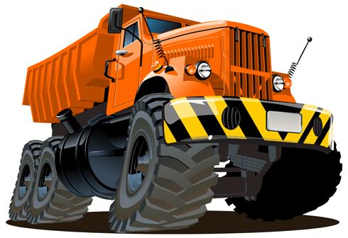 Stickers pour enfants: Travaux de camions