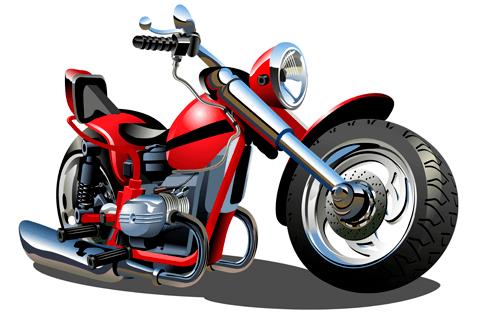 Stickers pour enfants: Moto Harley 1