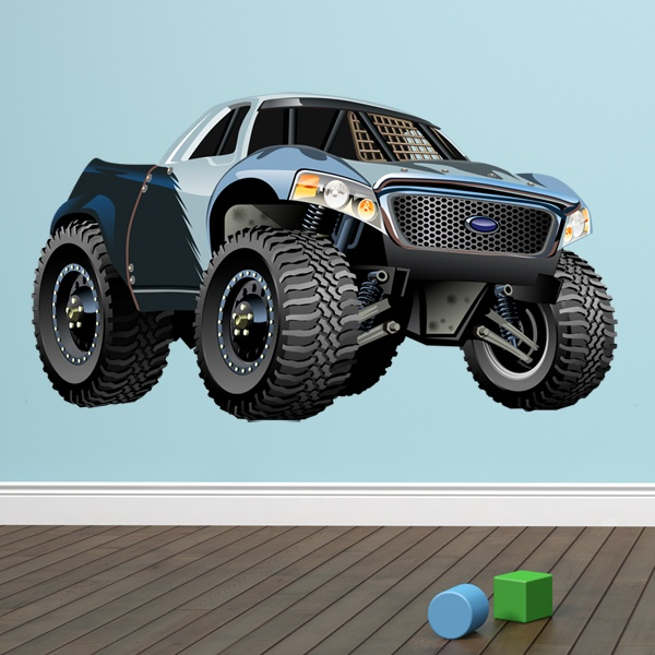 Stickers pour enfants: Monster Truck Pickup Ford 1