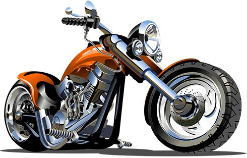Stickers pour enfants: Moto Harley 2