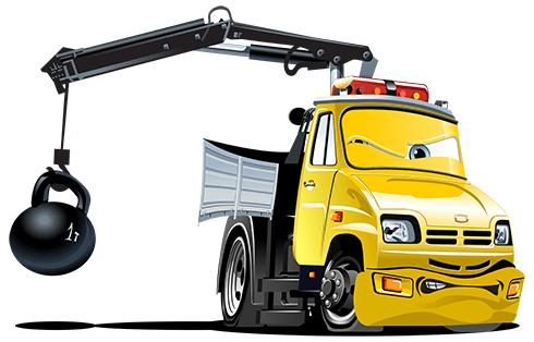 Stickers pour enfants:  Truck Crane Ball 1