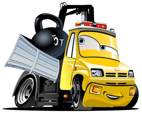 Stickers pour enfants:  Truck Crane Ball 2